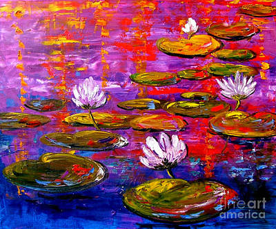 Lif Painting - Lily Pond by Inna Montano