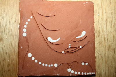 Sgrafittie Ceramic Art - Mama - Tile by Gloria Ssali