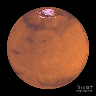 Tharsis Photograph - Mars by Stocktrek Images