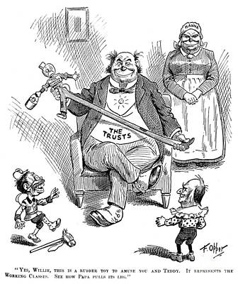 Mckinley Cartoon, 1900 Print by Granger