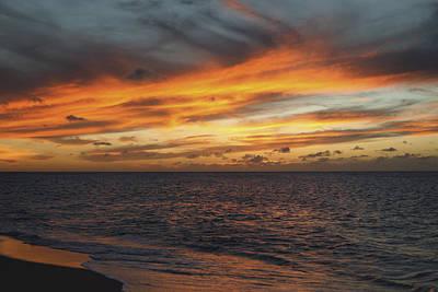 North Shore Sunset Art Print by Vince Cavataio