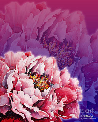 Mixed Media - Peony by Zaira Dzhaubaeva