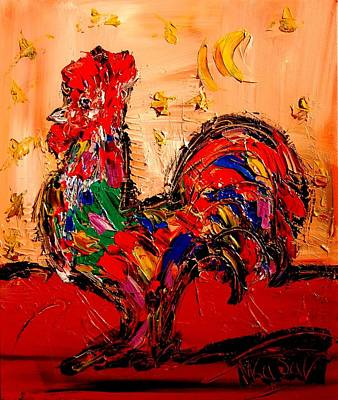 Confederate Monument Painting - Rooster by Mark Kazav