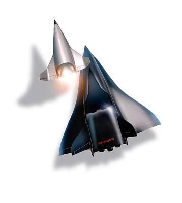 Saenger Horus Spaceplane, Artwork Art Print by Detlev Van Ravenswaay