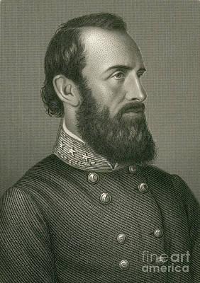 Stonewall Jackson Photograph - Stonewall Jackson, Confederate General by Photo Researchers