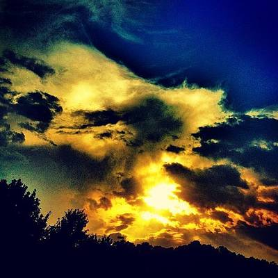 Yellow Wall Art - Photograph - Sunset by Katie Williams