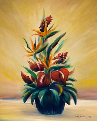Gina Gray Painting - Tropical Flowers by Gina De Gorna