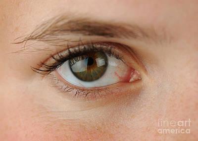 Womans Eye Art Print by Photo Researchers, Inc.