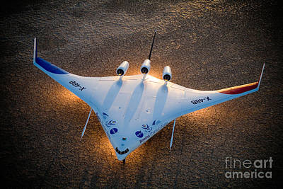 X48b Blended Wing Body Art Print by Nasa