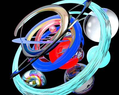 Abstract Shape Art Print by Bogdan Floridana Oana