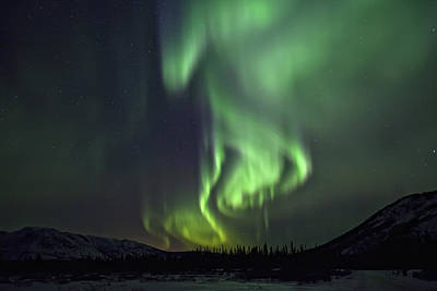 Aurora Borealis Or Northern Lights Art Print by Robert Postma