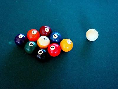 9 Ball Art Print by Nick Kloepping