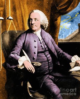 Benjamin Franklin  Print by Science Source