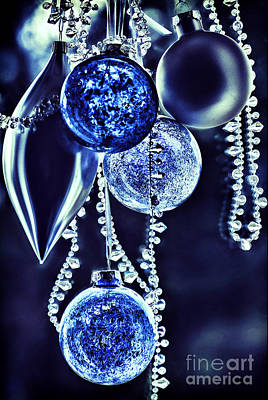 Blue Window Photograph - Christmas by HD Connelly