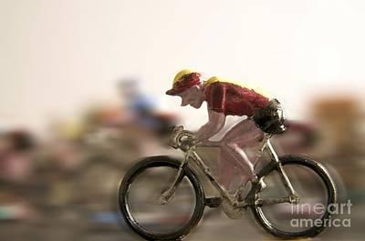 Blurriness Photograph - Cyclists by Bernard Jaubert