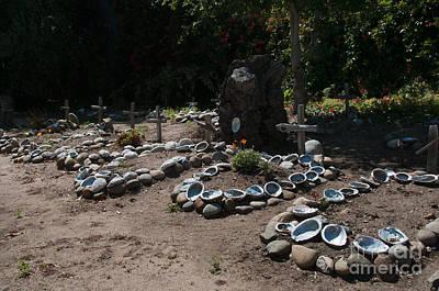 Thomas Kinkade - Gardens in Carmel Monastery by Carol Ailles