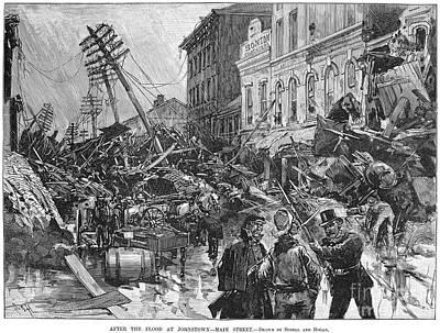 Johnstown Flood, 1889 Print by Granger