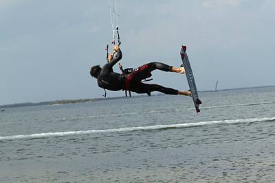 Photograph - Kite Boarding by Jeanne Andrews