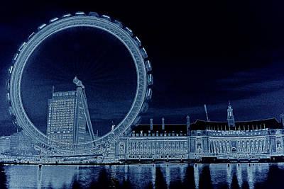 London Eye Digital Art - London Eye Art by David Pyatt