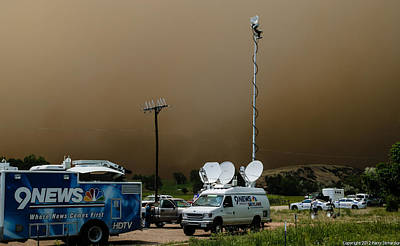 High Park Wildfire Photograph - 9 News At 11 by Harry Strharsky