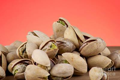 Wooden Bowl Photograph - Pistachios  by Blink Images