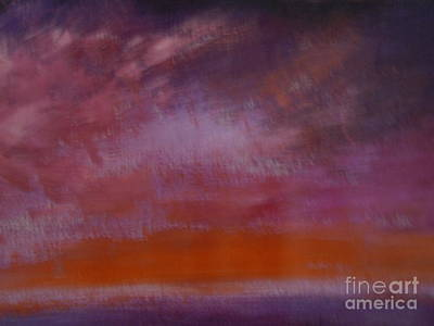Painting - Seascape Sunset by Lam Lam