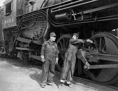 Silent Film Still: Trains Art Print