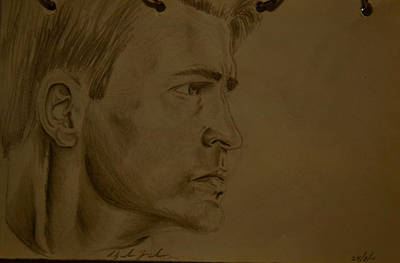Chris Evans Drawing Drawing - Untitled by Alejandro Saavedra