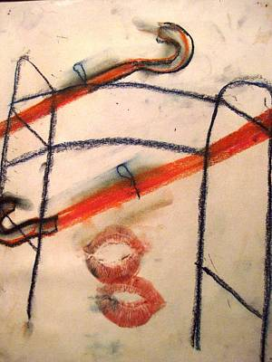 Crutch Painting - Untitled by Iris Gill