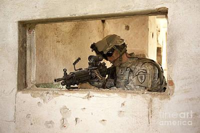 U.s. Army Ranger In Afghanistan Combat Art Print