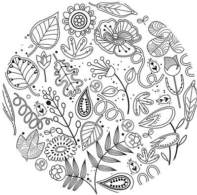Various Plants Patterns Art Print