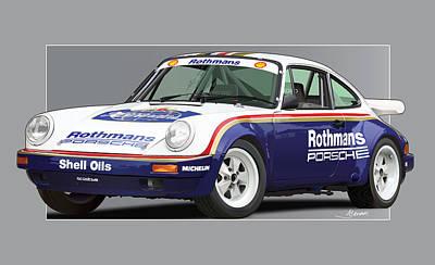 1984 Digital Art - 911 Porsche 911 Sc Rs by Alain Jamar
