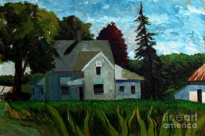 Indiana Landscapes Painting - 930 A M 400e 400n by Charlie Spear
