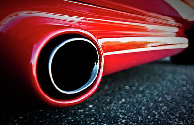 Photograph - 94 Vette Side Pipes by  Onyonet  Photo Studios
