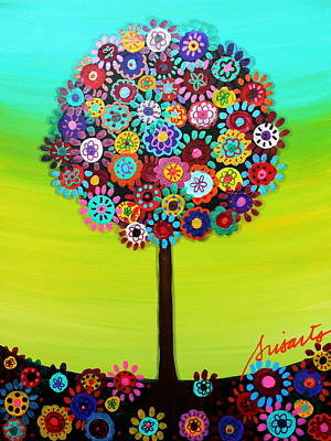 Tree Of Life Art Print by Pristine Cartera Turkus