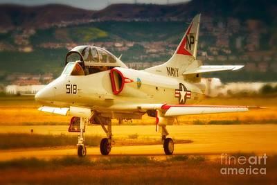 A-4 Skyhawk Up For A Hunt Art Print by Gus McCrea