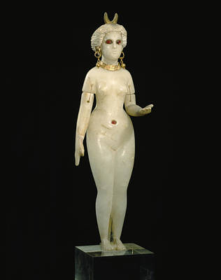 A Babylonian Alabaster Statue Depicts Art Print by Victor R. Boswell, Jr
