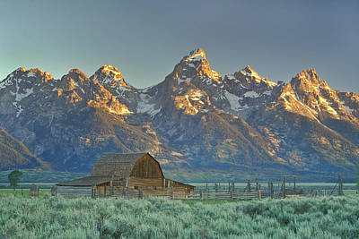 A Barn In The Rocky Mountains Art Print by Robbie George