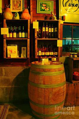 A Barrel And Wine Art Print