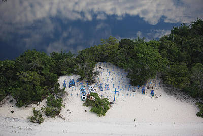 A Beach Cemetery Beside The Rio Negro Art Print by Bobby Haas