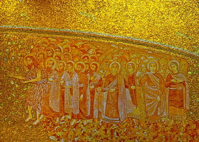 Photograph - A Beautiful Golden Mosaic  by Kirsten Giving