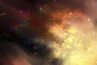 Digital Art - A Beautiful Nebula Out In The Cosmos by Corey Ford