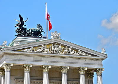 Photograph - A Beautiful Pediment In Vienna by Kirsten Giving