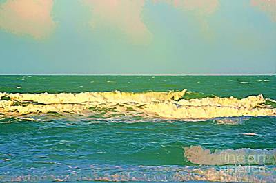 Art Print featuring the photograph A Big Breaker Wave  by Joan McArthur