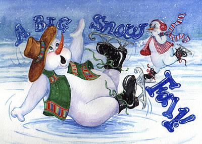 A Big Snow Fall Art Print