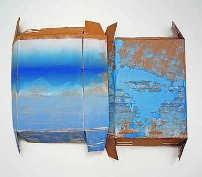 Cardboard Painting - A Bigger Splash by Charles Stuart