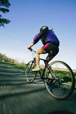 A Biker Rides On Marylands Eastern Art Print