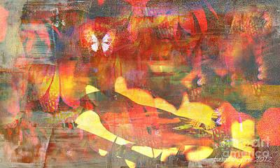 Faniart Africa America Mixed Media - A Bird's Place by Fania Simon