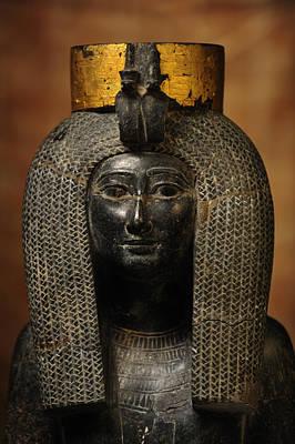 A Black Grantie Statue Of Isis Art Print by Kenneth Garrett