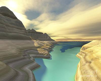 Beautiful Vistas Digital Art - A Blue Shadow Falls by Corey Ford